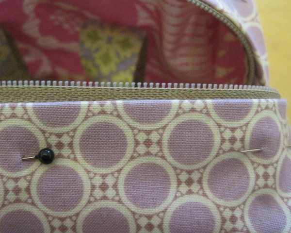 Evey bag interior pinned