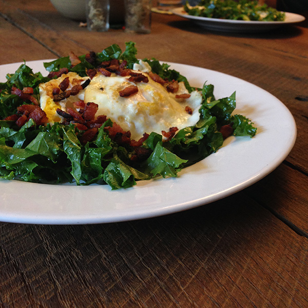 Bacon and Eggs kale